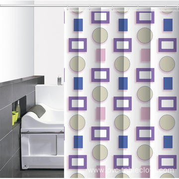 Waterproof Bathroom printed Shower Curtain 80 Length