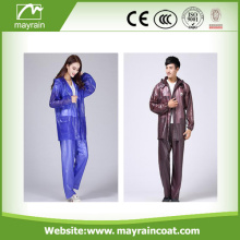Polyester PVC Rainproof Rainsuit or rainwear