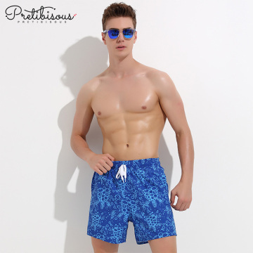 Comfortable men no mesh lining board swim trunks