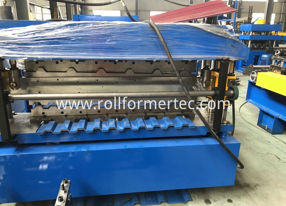 double layer roofing panel rollforming line (7)
