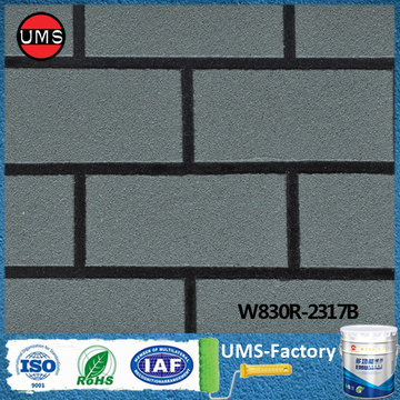 Paint off concrete brick wall black