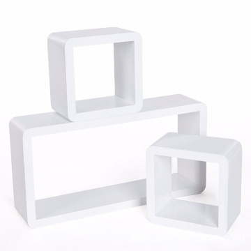 Wall Shelves Set of 3 Cube Floating Shelves Storage MDF Display Wall Shelves Set of 3 Cube Floating Shelves Storage MDF Display