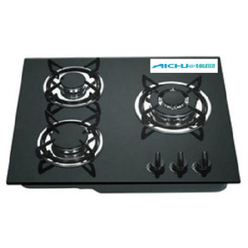 3 Burners Gas Stove Enamel Pan Support Hobs