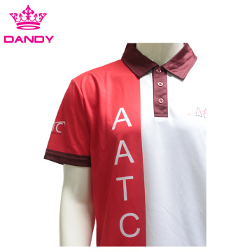White 100% Subliamtion Polyester Polo Shirts