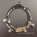 Multilayer Cute Evil Eye Beads Bracelet Protection Jewelry