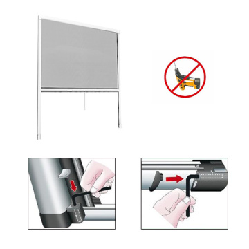 Retractable screen for window expansion fastening system