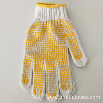 String knitted cotton glove