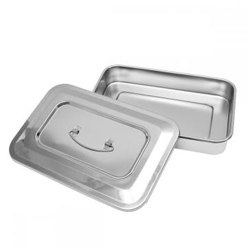 hospital Stainless steel instrument tray with lid product