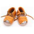 Wholesales Leather Unisex Baby Moccasins Sandals