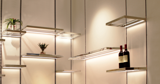 LED Decorative Glass Shelf Light with Tracking System