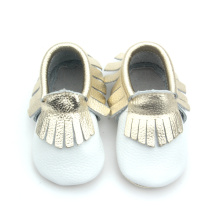Stylish Infant Shoes Cow Leather Baby Moccasin Shoes