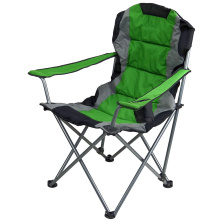 Green Folding Quad Padded Lawn Seat