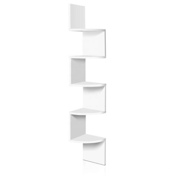 5 Tier Corner Wall Shelf Display shelves DVD CD Storage Zig-tag Rack