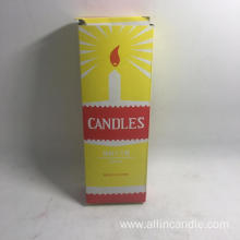 3hours burn time cheap white candle to Guinea