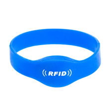 High Quality Water-proof TK4100 Blue Silicone Rfid Wristband
