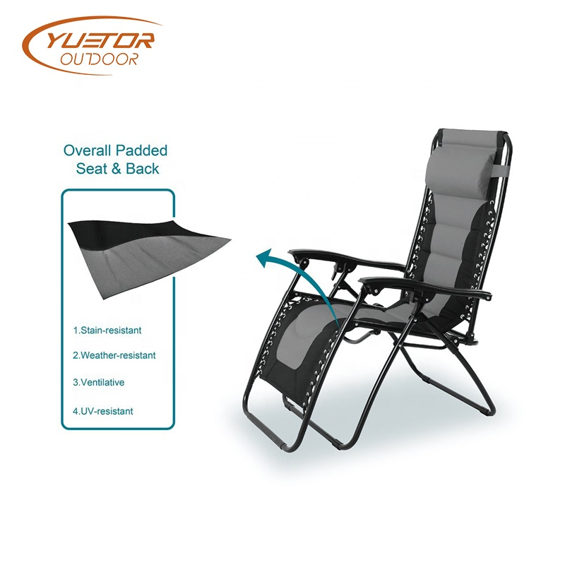Patio Adjustable Reclining Padded Zero Gravity Lounge1
