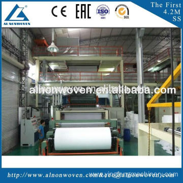 Professional AL-3200MM SSS PP Spunbond Nonwoven Machine Made in China