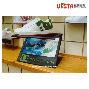 Custom Metal Shoe Display Stands with Advertising Player