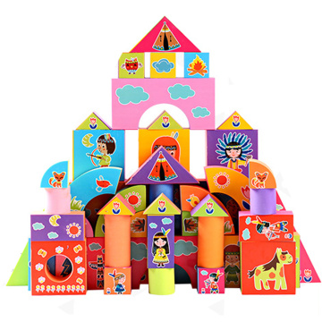 DIY Toy soft eva printed large foam blocks