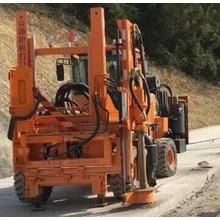 Pile Drivers for safety barrier installations