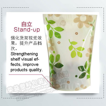 Stand Up Plastic Zipper Pouches
