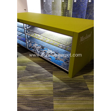 Nylon square carpet tile with pvc backing