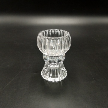 Reversable Glass Candle Holder Pillar Candles