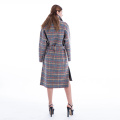 Coloured checked cashmere winter outwear
