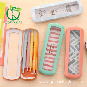 Tin pencil case with window