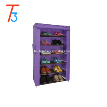Dustproof sliding door shoe rack with cover