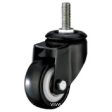 2 Inch Threaded Steam Swivel PU Material Small Caster