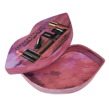 Luxury Rigid Cardboard Lip Shape Cosmetic Gift Box