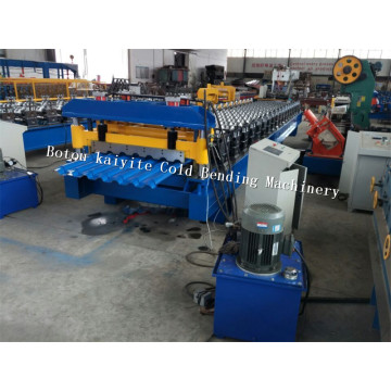Glazed Aluminum Sheet Metal Roofing Rolls Forming Machine