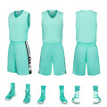 Simple wholesale basketball uniform blank jersey set