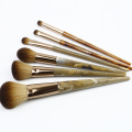 Wood grain plastic handle 6 pcs brush set