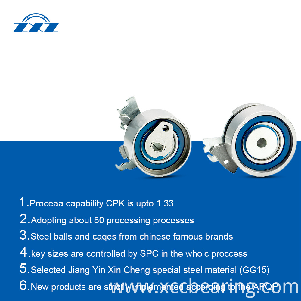Tensioner bearings