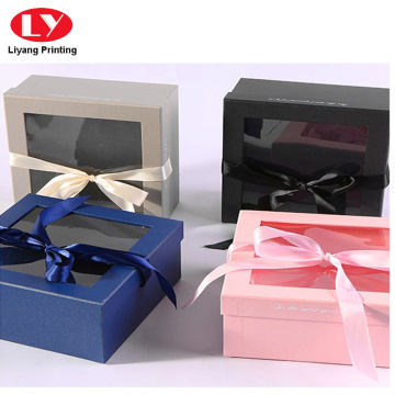 ribbon bow PET window nice gift box