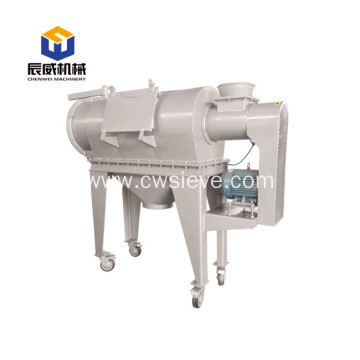 horizontal airflow sifter flour screen machine
