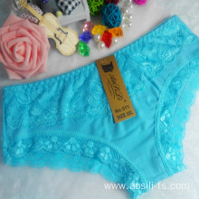 OEM wholesale China new style sky blue sexy comfortable lace cotton fancy underwear 511