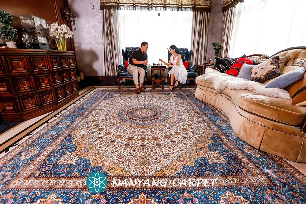 pure silk handmade rug