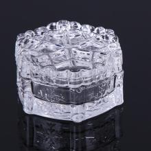 Engraved snowflake Clear Jar Candy Vessel