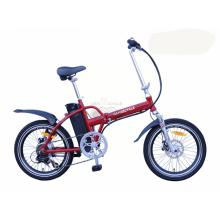 20 Inch Red Full Alloy Suspension Folding E Bike With High Quality