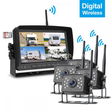 Front Side Rear View Camera System Digital Wireless