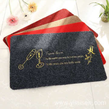 Soft surface waterproof embroid beautiful door mat