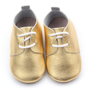 Rubber Outsoles Handmade Wholesale Baby Oxford Shoes