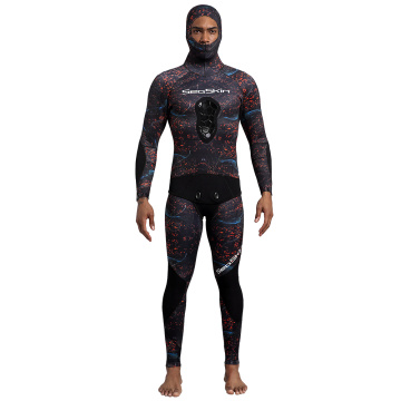 Seaskin Camo Spearfishing Wetsuits Men 3mm Neoprene
