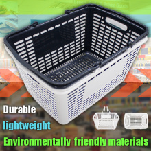 Environmental PP plastic handle shopping basket