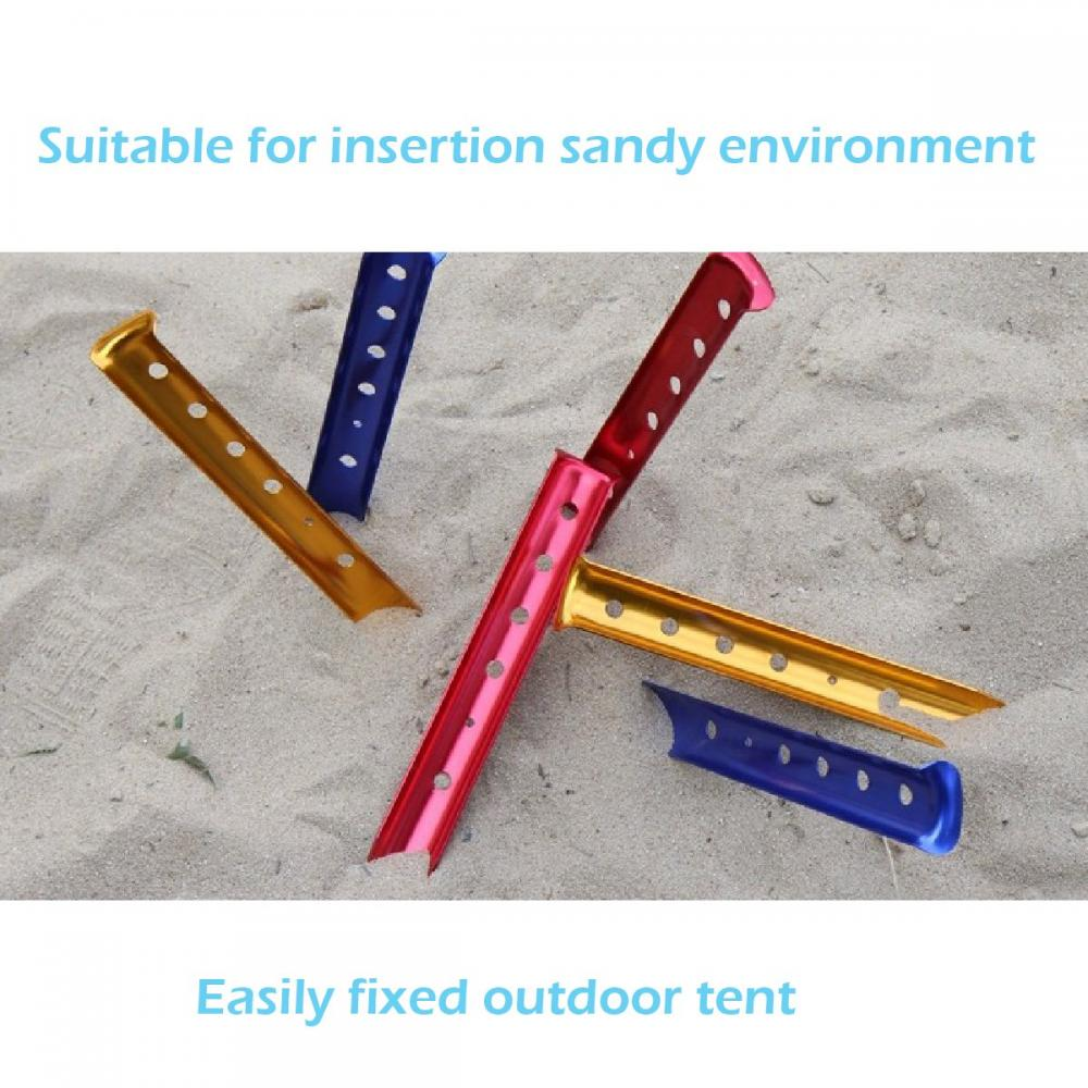 Aluminum U Shaped Tent Pegs Tent Nails Lightweight For Camping