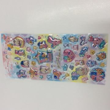 children stereo cartoon bubble sticker
