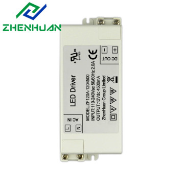 54W 12v 4500ma DC output led drivers transformer